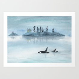 Nature is my home Art Print