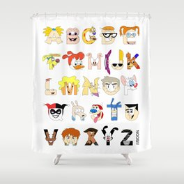 Child of the 90s Alphabet Shower Curtain