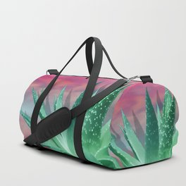 """Pastel Succulent Pink Sunset"" Duffle Bag"