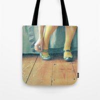 good morning Tote Bags featuring Good Morning by Cassia Beck