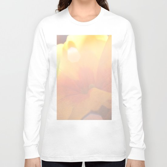 Spring Kiss - Yellow Primrose in the sunlight #decor #art #society6 Long Sleeve T-shirt