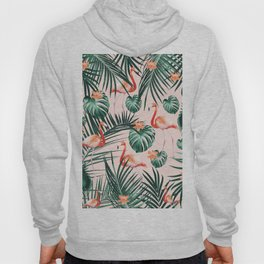 Tropical Flamingo Floral Summer Pattern #1 #tropical #decor #art #society6 Hoody