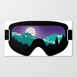 Moonrise Goggles | Goggle Designs | DopeyArt Canvas Print