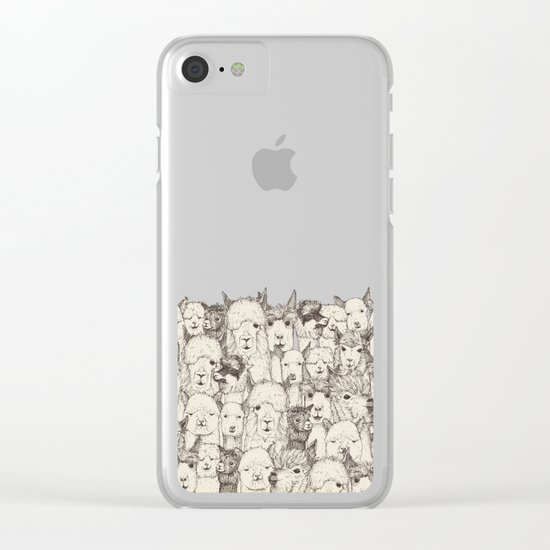 just alpacas natural Clear iPhone Case