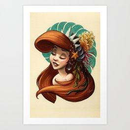 Tribal Princess Ariel Art Print