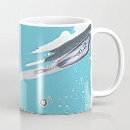 Blue skies of grey - made with unicorn dust by Natasha Dahdaleh Coffee Mug