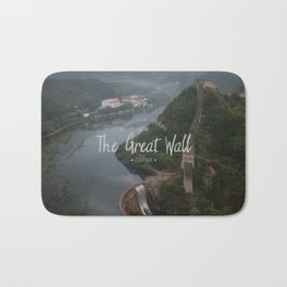 A different view of The Great Wall of China Bath Mat