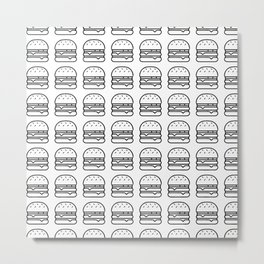 Burger on my mind Metal Print