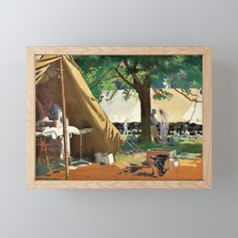 German Sick, Captured at Messines, in a Canadian Hospital - Sir William Orpen Framed Mini Art Print