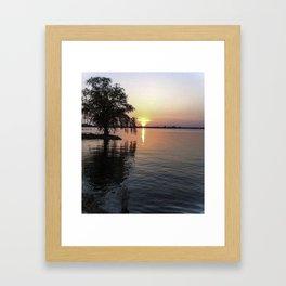 Sunset on Booth Bay, Maine Framed Art Print