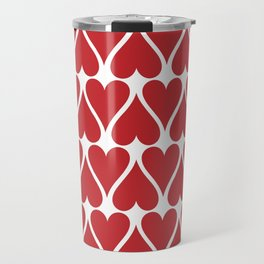 Hearts Background Travel Mug