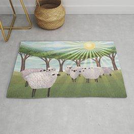 sunshine sheep Rug