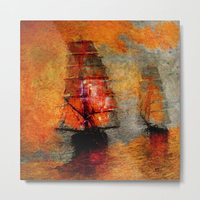 melancholic boats Metal Print