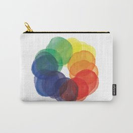 Watercolor Wheel Carry-All Pouch