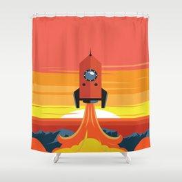 Deco Rocket Shower Curtain