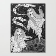 Two Ghosts Canvas Print