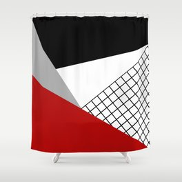 Colorful geometry 3 Shower Curtain