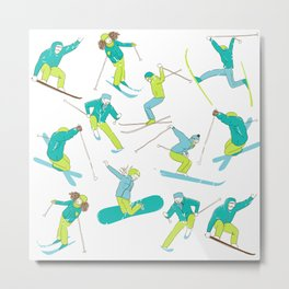 Skiing & Snowboard, Winter Sports Extreme Metal Print