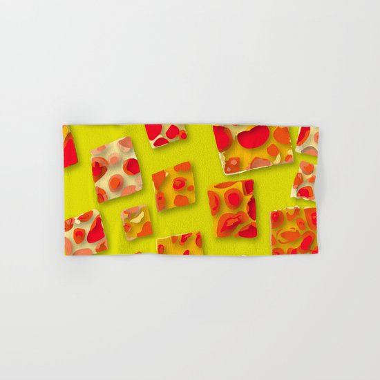 red spotted rectangles Hand & Bath Towel