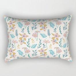 Granny's Attic vintage inspired pattern Rectangular Pillow