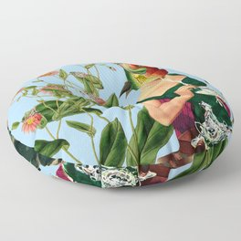 fish soul mate Blue #collage Floor Pillow