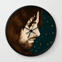 aragorn Wall Clocks featuring Aragorn by Colien