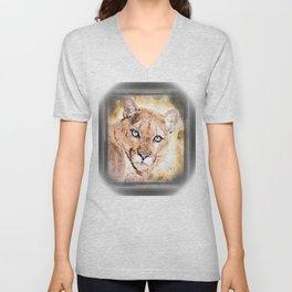 Big Cat Models: Cougars 01-02 Unisex V-Neck