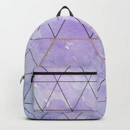 Purple Triangles Backpack