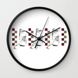 Triple Peanut Butter Illustration Wall Clock