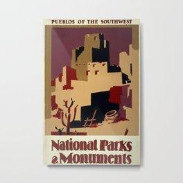 Vintage poster - Pueblos of the Southwest Metal Print