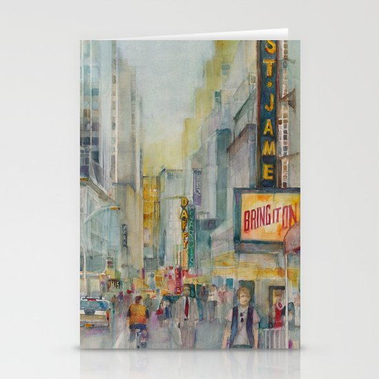 Broadway,  New York - Five O'Clock Revised Stationery Cards