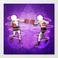 boxing Canvas Prints featuring Boxing by Caroline David