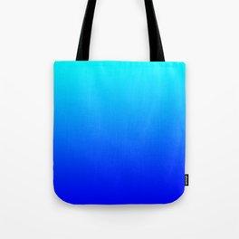 Aqua Blue Bright Ombre Tote Bag