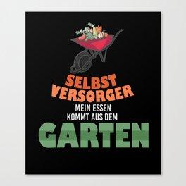 Garden Gardener Wheelbarrow Gardening Canvas Print