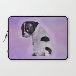 Boston Terrier Puppy Laptop Sleeve