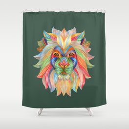 Rainbow Lion Shower Curtain