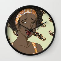 mustache Wall Clocks featuring Mustache by Chouly-Shop