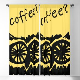 Coffee? Morning owl print Blackout Curtain