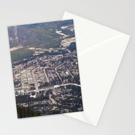 Aerial View of Banff, Alberta Stationery Cards