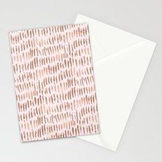 Blush Pink Rose Gold Abstract Stationery Cards