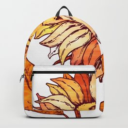 Golden Orange Flower Backpack