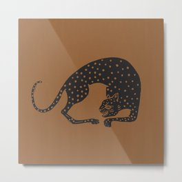 Blockprint Cheetah Metal Print