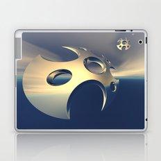 Metallic Space Pods Laptop & iPad Skin