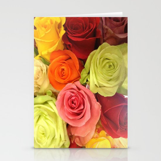 Rainbow Roses Stationery Cards