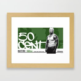 50 Cent poster - Honolulu, Hawaii 2003 Framed Art Print