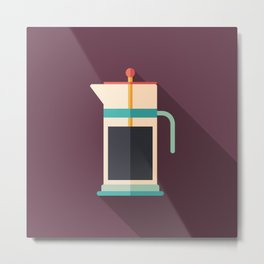 French Press Coffee Metal Print