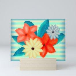 Painted Floral Arrangement Mini Art Print