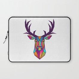 Deer | Geometric Colorful Low Poly Animal Set Laptop Sleeve