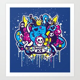 Unlucky Kitty Art Print