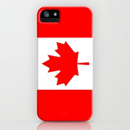 Flag of Canada - Authentic High Quality image iPhone Case